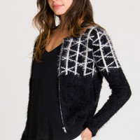 What The Fuzz Crop Sweater   RVCA