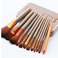 12Pcs/Lots professional  Makeup Brushes Makeup Brush kit Sets For Eyeshadow Blusher Cosmetic Brushes Tool Set Retail Packaging