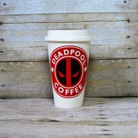 Deadpool - Custom Reusable Coffee Cup - Cosplay Accessory - Starbucks Cup