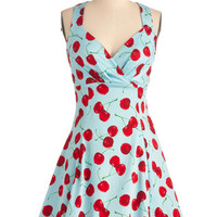 ModCloth Rockabilly Mid-length Tank top (2 thick straps) A-line You Are Cherry Welcome Dress
