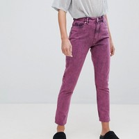 Monki Acid Wash Kimomo Mom Jeans at asos.com