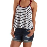 Strappy Racerback Trapeze Tank Top by Charlotte Russe