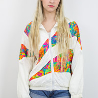 Vintage 90s Colorful Windbreaker