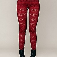 Nightcap  Autumn Leaves Lace Pant at Free People Clothing Boutique