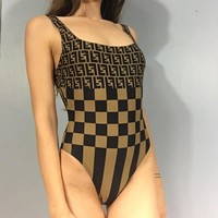 Fendi FF Retro One-piece Swimsuit