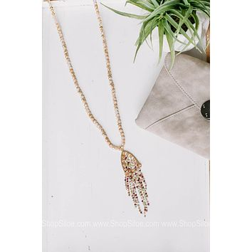 A Life Changing Experience Necklace with Delicate Beaded Tassel