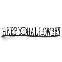 Halloween HAPPY HALLOWEEN CENTERPIECE Metal Gallerie II Skull Fgh73082