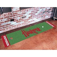 "NCAA -  Nebraska Huskers Putting Green Runner 18""x72"" - Golf Accessory"