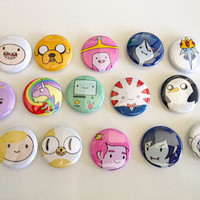 "Adventure Time 1"" button pin set"