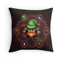 'Gnome' Throw Pillow by likelikes