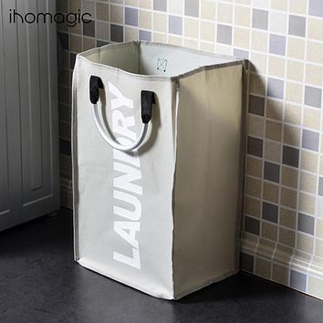 Oxford Cloth Clothes Receive A Portable Folding Laundry Basket Receive Bag Contracted Sundry Carrying Bag