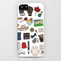 Doctor Who iPhone & iPod Case by Shanti Draws
