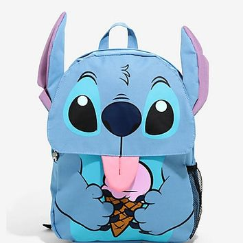 Loungefly Disney Lilo & Stitch Ice Cream Flap Backpack