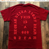 BLACK FRIDAY SALE I Feel Like Pablo Cardinal Red Tee Shirt Kanye West Yeezy Tlop Tour