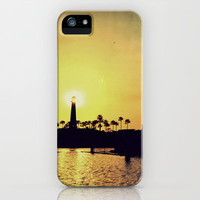 Shoreline Village Silhouettes iPhone & iPod Case by RichCaspian