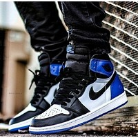 Nike AIR Jordan AJ1 hot sale men's and women's casual high-top shoes basketball shoes