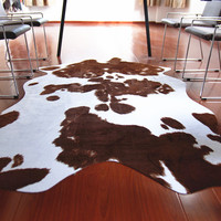 Fashion Imitation  Leather Creative European And American Retro Style Cow Pattern  Living Room Coffee Table  Floor Carpet Rug