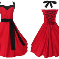 prom party dress red bridal belt plus sizes large 5xl 6xl US swing circle clothing woman 50's dress 60's rockabilly robe soiree