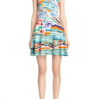 Mary Katrantzou Rainbow Cloud Print Stretch Jersey Dress | Nordstrom