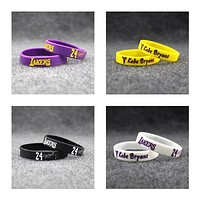 LAKERS Popular Kobe Bryant Silicone Wristband - Pack of 4