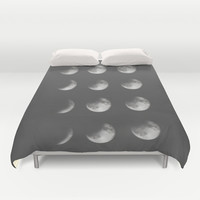 phases of the moon Duvet Cover by Sara Eshak