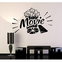 Vinyl Wall Decal Movie Popcorn Cinema Film Art Stickers Mural Unique Gift (ig3316)