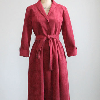 Vintage 1970s Roth Le Clover Ultra Suede Dress
