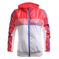 """Adidas"" Women Fashion Zip Cardigan Jacket Coat Sweatshirt Red"