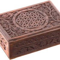 Flower of Life - Carved - Storage Box