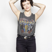 The Band on Tour Muscle Tee - Vintage Black