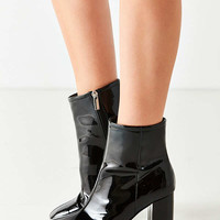 Sloane Seamed Patent Leather Ankle Boot   Urban Outfitters