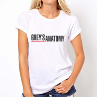 Greys anatomy printed on Women tee