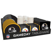 NFL 66 Package Tableware Counter Display Pittsburgh Steelers