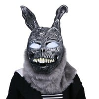 Free Shipping Cosplay Donnie Darko Rabbit Mask Scary Animal Full Head Horror Mask Latex Prop Halloween Party