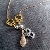 Fifty Shades of Grey Inspired Necklace by DosPuntosAccessories