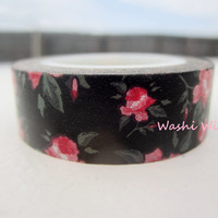 Elegant / Shabby Chic Black Rose Washi Tape