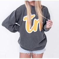 TN Script Sweatshirt - Pepper