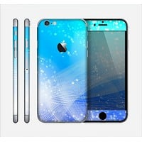 The Abstract Light Blue Scattered Snowflakes Skin for the Apple iPhone 6