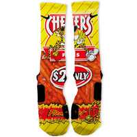 Flamin Hot Fries Custom Nike Elite Socks