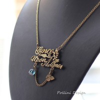 Once Upon A Time   Antique Gold Long Necklace by PolliniAtelier