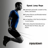 Mysuntown Speed Jump Rope Fully Adjustable Super Lightweight & Durable-Best for Fitness Training