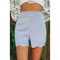 Come On In Shorts: Dusty Blue