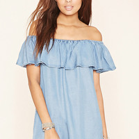 Chambray Flounce Dress