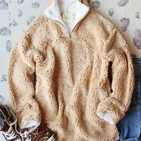Teddy Cozy Pullover in Sand