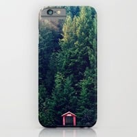 Red in Woods iPhone & iPod Case by RDelean