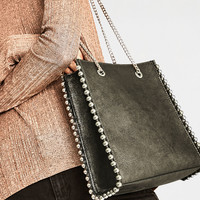 MINI STUDDED TOTE - View all-BAGS-WOMAN | ZARA United States