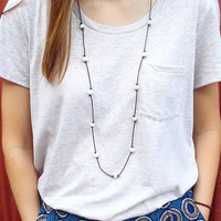 Extra Long Freshwater Pearls and Genuine Leather Necklace