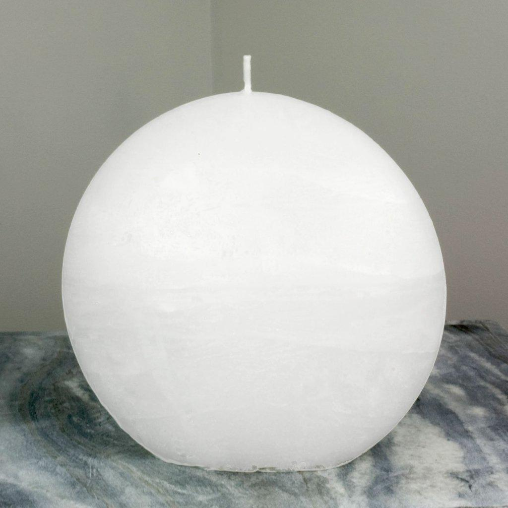 Image of White Disc Candle   Large