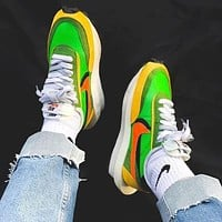 Nike x sacai Waffle Daybreak jogging for men and women Shoes