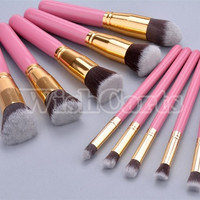 2014 Women Makeup Brush Set blending Shadow Powder foundation Brushes SV006597 (Color: Pink) = 1652967620